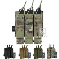KRYDEX Triple Open Top Submachine Mag Pouch Tactical Magazine Hold Carrier MOLLE