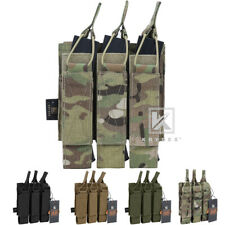 KRYDEX Triple Open Top SMG Mag Pouch Tactical Magazine Holder Carrier MOLLE