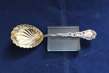"""Durgin Louis XV Sterling Silver Gold Washed Scalloped Bowl Serving Spoon 8 3/4"""""""