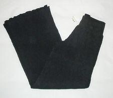 RIP CURL black cotton trousers pants pantaloni neri donna modello ampio M BNWT