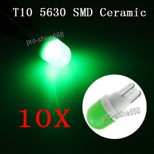 100X Green T10 Wedge Ceramic Interior LED Car Light Bulb W5W 2825 192 168 198