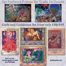 "Celtic Gods and Goddesses. 6 Art Prints by Jim FitzPatrick. A3 11""x16"""