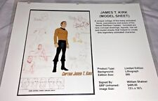 Rare Star Trek Laminated Cel Promo Binder Page James T Kirk