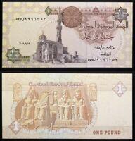 EGYPT 1 Pound, 2008, P-50, Ramses II, Abu Simbei, UNC World Currency