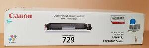 Canon 729 Laser Toner Cartridge Cyan Genuine (BRAND NEW) i-Sensys LBP7010C