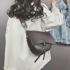 Vintage Handbag Saddle Female Shoulder Bag Wide Strap Large Capacity Leather