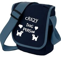 Dog Bag Crazy Dog Person Cute  Dogs, Hearts Shoulder Bags Handbags Birthday Gift