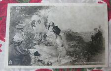 CPA tableau Salon peinture 1906 Bonnet - Plaisirs Champêtre- Repas campagne