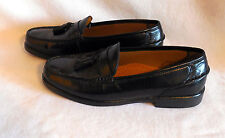 Men SOFT FLEX FRENCH SHRINER black casual TASSEL LOAFERS SHOES size 9.5D  G146