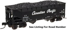 3 Pack - N Atlas 2-Bay Offset Side Hoppers w/ Loads - Canadian Pacific / CP