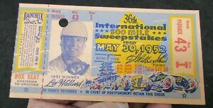 1952 Indianapolis 500 ticket