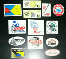 Lot Of 13 Different Coal Mining Stickers Hard Hat Decals