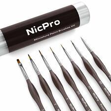 Nicpro Micro Detail Paint Brush Set,7 Pcs Tiny Professional Detail Painting Kit