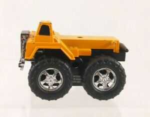 "Greenbrier Int Orange Dump Truck Toy Missing Bed 3.5"" Long"