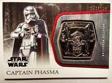 Topps Star Wars The Force Awakens: Silver Medallion M-42 Captain Phasma #53/199