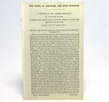 CALVANISTIC BAPTIST Faith of Abraham and God's Blessing SERMON by James HALLETT
