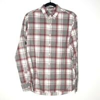 J. Crew Stretch Mens Size Small Classic Button Down Shirt Long Sleeve Plaid Red
