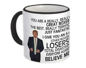 Gift Mug : for Boxer Donald Trump Great Fighter Funny Christmas