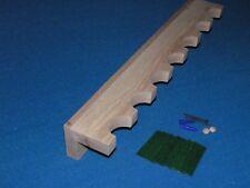 7 gun - wood closet gun rack - solid oak construction