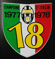 FC648_JUVENTUS_CAMPIONE D'ITALIA_1977-1978_18° SCUDETTO_ADESIVO STICKER