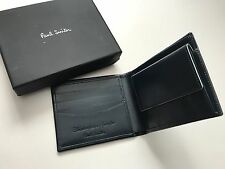 Paul Smith negro de hombre 8 CC Plegable Billetera con Monedero - En caja