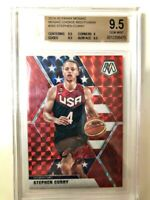 2019-20 PANINI MOSAIC CHOICE RED FUSION STEPHEN CURRY SP /88 BGS 9.5 GEM MINT