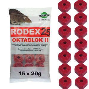 Rat and Mouse Mice Killer Poison 300g Bait Blocks Rodex25 - Strongest Rat Poison