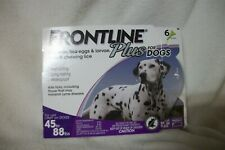 Frontline Plus for large dogs 45 - 88 pounds - 5 doses - free domestic shipping