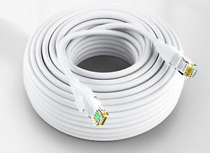 CAT6 RJ45 UTP 100% PURE COPPER ETHERNET NETWORK Wholesale 1M to 50M WHITE