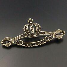 05585 antiqué bronze vintage alliage dentelle CROIX COURONNE pin broche charme 10pcs
