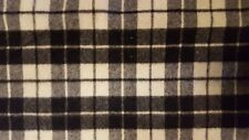 "Woolrich Black & White Plaid Wool Fabric, 80% Wool, 58"", 22 oz, USA, By The Yard"