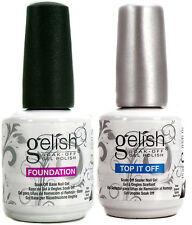 Gelish Duo Top It Off + Foundation Base Coat - 15mL (For UV/LED Gel Nail Polish)