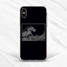 Aesthetic Black White Kanagawa Wave Case For iPhone 6 7 8 Xs XR 11 Pro Plus Max