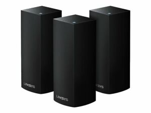Linksys Velop Intelligent Mesh-WLAN-System, 3er-Pack, Schwarz
