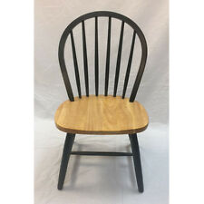 Windsor Wood Chair in Natural & Green