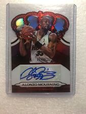2018-19 Crown Royal Autographed Red Alonzo Mourning #6/40