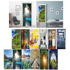3D Selbstklebende Tür Aufkleber Wohnkultur bezaubernde Landschaften Bilder