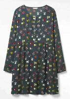 BN Ladies White Stuff Wildings Floral Print Grey Tunic Dress SZ 6 - 22 RRP: £55