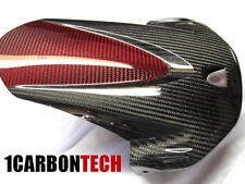 2009 - 2016 SUZUKI GSXR 1000 CARBON FIBER AND RED HYBRID REAR FENDER HUGGER