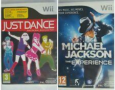 JUST DANCE+MICHAEL JACKSON EXPERIENCE (Wii)-2 Fun Dancing Game bundle=56 Hits!