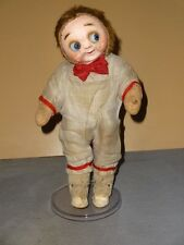 "GOOGLY glass eye ""HUG ME KID"" RARE, antique composition face/felt body j'td doll"