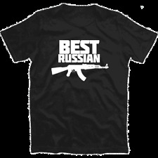 Best Russian - AK 47 Kalaschnikow - Original Russen Party disco T-Shirt S-XXXL
