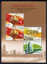 China PRC 2007-17 10th Anniversary of Reunification Hong Kong Bl.137 MNH