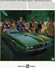 Green Pontiac Firebird 400 Convertible MUSCLE CAR Football Game 1967 Magazine Ad