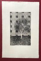 Ulrich Mumm, Osdorfer Baum, Radierung, 1974, handsigniert und datiert