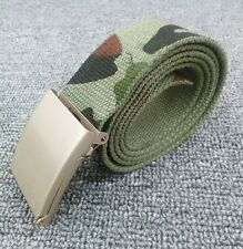 Children kid Boys Camo Army Military green camouflage Casual Canvas Pants Belt