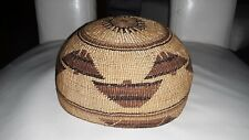 Vintage Hupa - Yurok - Karuk Basket Hat Fine Weave Great Design > NICE