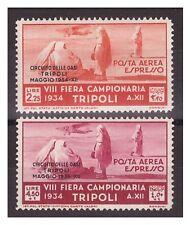 TRIPOLITANIA  1934 - P.A. ESPRESSO   CIRCUITO DELLE OASI  SERIE   NUOVA *
