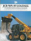 Equipment Brochure - JCB - 505-19 Loadall - Material Handler - c1990 (E3118)