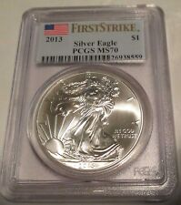2013 Silver Eagle PCGS MS 70 First Strike Perfect B.U. $1